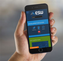 esw website mobile screenshot
